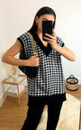 Kaya Dogstooth Sleeveless Vest Thumbnail