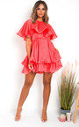 Kaya Layered Frill Mini Dress Thumbnail