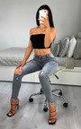 Kayla Distressed Skinny Jeans Thumbnail