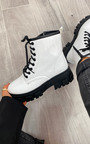 Kayla Faux Leather Patent Biker Boots Thumbnail