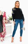 Kayleigh Sequin Shoulder Knitted Jumper Thumbnail