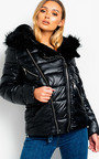Kaz Faux Fur Lined Puffer Jacket Thumbnail
