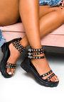 Keira Chunky Eyelet Embellished Sandals Thumbnail