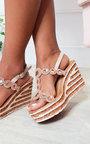 Kellis Diamante Jewelled Wedged Heel Thumbnail