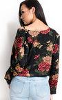 Kelsie Plunge Floral Bodysuit Thumbnail