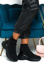 Kendall Diamante Embellished Chunky Sock Trainers Thumbnail