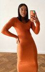 Kendall Knitted Bodycon Midi Dress Thumbnail