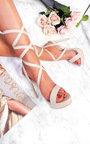 Kennedy Lace Up Peep Toe Heels  Thumbnail