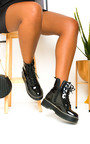 Kenny Lace Up Biker Boots Thumbnail