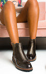 Kensie Faux Leather Brogue Chelsea Boots Thumbnail
