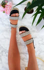 Kesha Roped Flatform Diamante Sandals Thumbnail