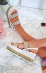 Kesha Roped Flatform Diamante Sandals Thumbnail