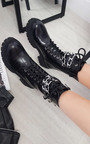 Kim Faux Leather Ankle Boot with Chain Detail Thumbnail
