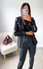 Kim Faux Leather Blazer Jacket Thumbnail
