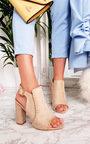Kimberly Suede Peep Toe Heels Thumbnail