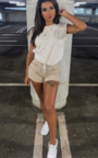 Kimmi Lace Up Denim Shorts Thumbnail