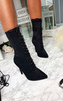 Kimmie Lycra Lace Up Heeled Boots Thumbnail