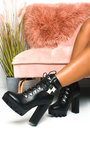 Kimmy Lace Up Platform Heeled Boots  Thumbnail