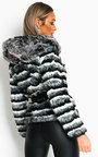 Kira Faux Fur Striped Jacket Thumbnail