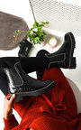 Kirstee Croc Print Patent Ankle Boots Thumbnail