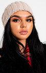 Kirsti Woven Knitted Beanie Hat Thumbnail
