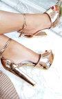 Kirti Peep Toe Block High Heels  Thumbnail