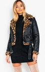 Kizzy Leopard Biker Jacket Thumbnail