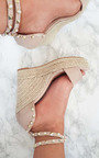 Klaire Studded Embellished Wedged Heels Thumbnail