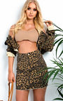 Koko Leopard Denim Jacket Thumbnail
