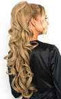 Kyla Long Curly Ponytail Hair Extensions - Curly Honey Blonde Thumbnail