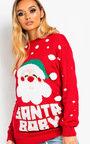 Kris Santa Baby Christmas Jumper Thumbnail