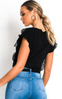 Kristy Frill Bow Graphic Top Thumbnail