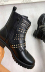 Kylie Buckle Studded Ankle Boots Thumbnail