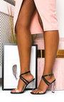 Kylie Crossover Perspex Heels Thumbnail