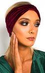 Kyra Velvet Bow Headband Thumbnail