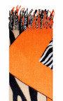 Kyra Zebra Printed Scarf Thumbnail