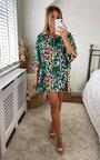 Lada Oversized Printed Shirt Dress Thumbnail