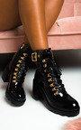 Lara Lace Up Heeled Boots  Thumbnail