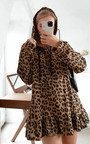 Larah Leopard Print Frill Jumper Thumbnail