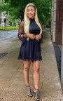 Larissa Mesh Polka Dot Skater Dress Thumbnail