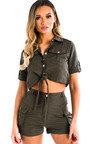 Launie Cargo Shirt and Shorts Co-Ord  Thumbnail