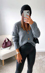Lauren Button Up Knitted Cardigan Thumbnail