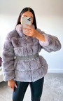 Lauren Faux Fur Coat Thumbnail