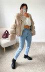 Lauren Faux Leather & Faux Fur Collared Jacket Thumbnail
