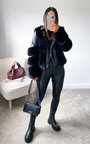 Lauren Faux Leather & Faux Fur Jacket Thumbnail