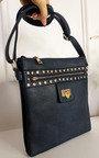 Lauren Faux Leather Shoulder Bag with Gold Detail Thumbnail