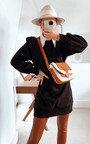 Lauren Padded Shoulder Jumper Dress Thumbnail