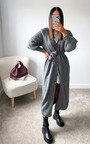 Lauren Puff Sleeve Longline Knitted Cardigan Thumbnail