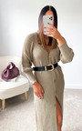 Lauren Puff Sleeve Longline Knitted Cardigan Thumbnail