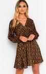 Laurena Low Cut Tie Waist Dress Thumbnail